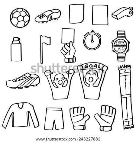 vector set of football icon - stock vector