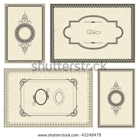 Vector Set of Frames - stock vector