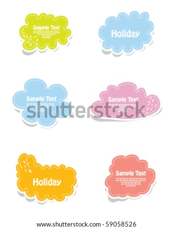 Vector set of frames in bright color