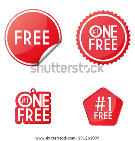 Vector Set Of Free Icons Isolated On White Background