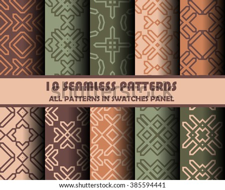 vector set of geometric patterns for design.  - stock vector