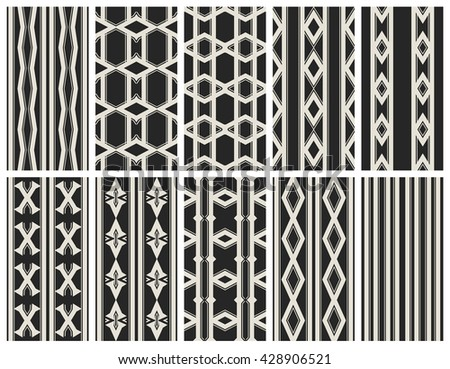 vector set of geometric patterns for design