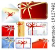 Vector set of gift labels and envelopes - stock vector