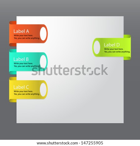 Vector set of glossy plastic tags.