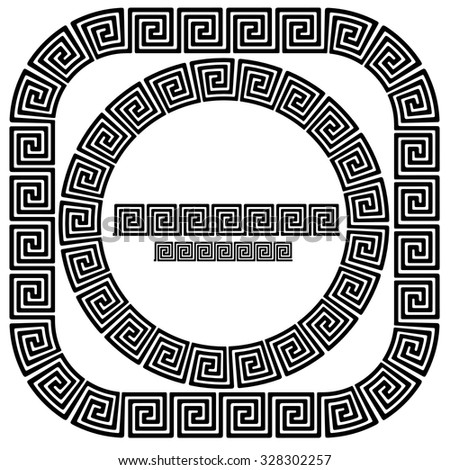 Vector Set Greek Ornamental Frames Isolated Stock Vector HD (Royalty ...