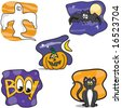 Vector set of Halloween images - stock vector