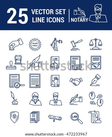 Vector set icons linear design notary stock vector 472233967 vector set icons linear design notary stock vector 472233967 shutterstock yelopaper Images