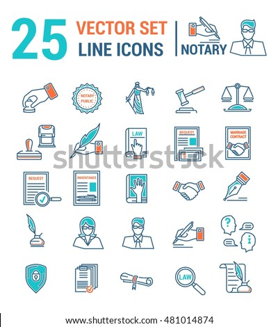 Vector set icons linear design notary stock vector 481014874 vector set icons linear design notary stock vector 481014874 shutterstock yelopaper Images
