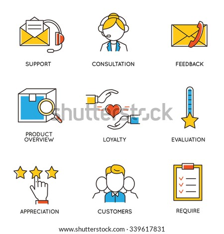 Vector set of icons related to career progress and business management. Infographics design elements - part 4 - stock vector