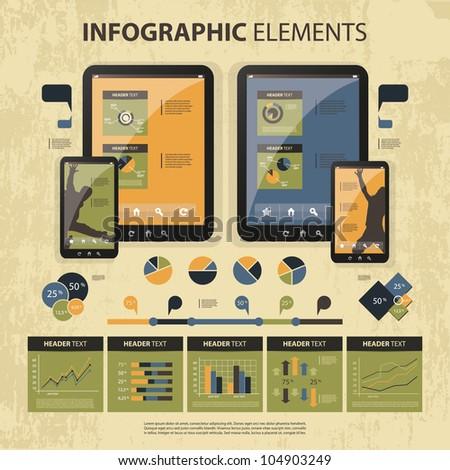 Vector set of infographic elements - stock vector