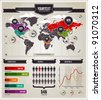Vector set of infographics elements. - stock photo