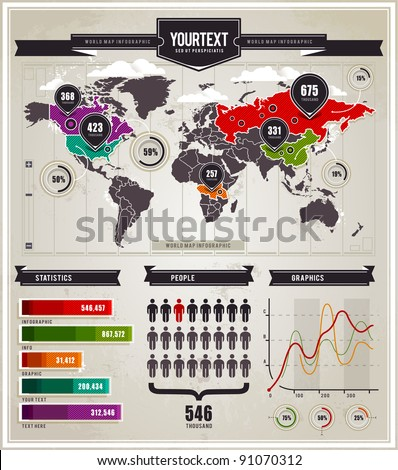 Vector set of infographics elements.
