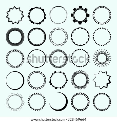 Vector Set 25 Kinds Round Frames Stock Vector HD (Royalty Free ...