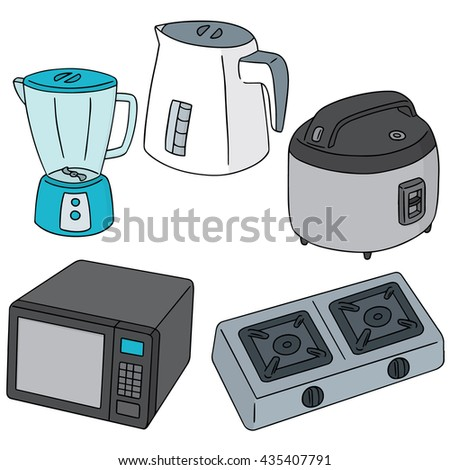 vector set of kitchen appliances