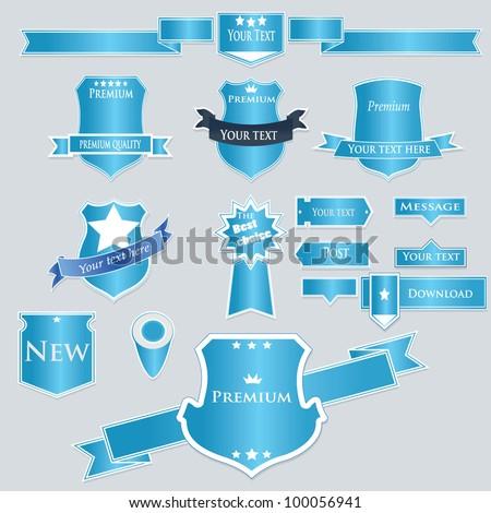 Vector set of labels - stock vector