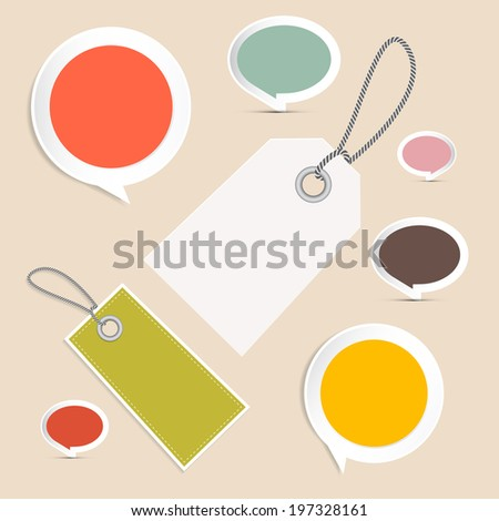 Vector Set of Labels, Tags - stock vector