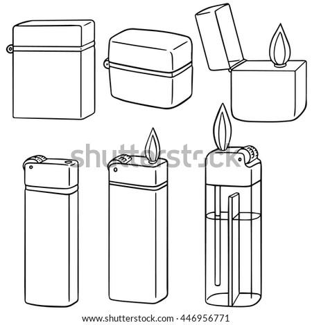 vector set of lighter - stock vector