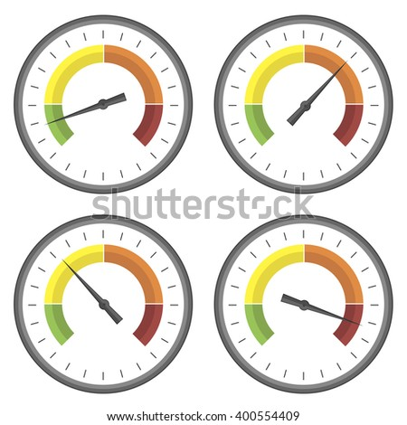 Vector Set of Manometer Icons - stock vector