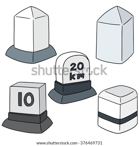 vector set of milestone - stock vector