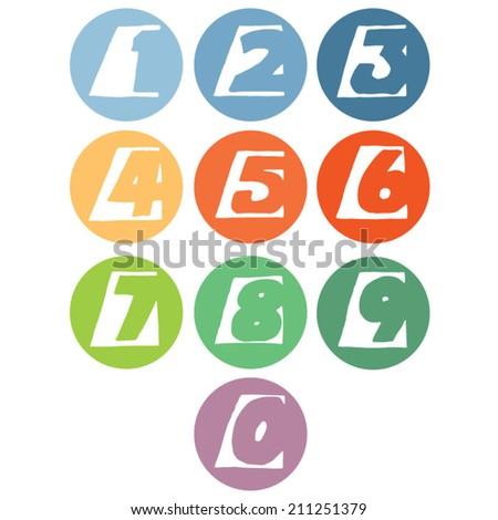 vector set of number - stock vector
