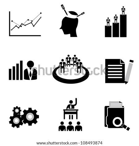 Vector Set Organization Development Human Resource Stock Vector