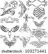 vector set of original hand drawn vignettes - stock vector