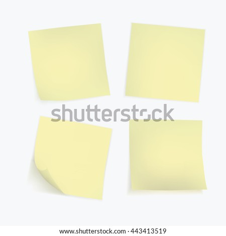 Vector Set of Paper Sticker Sticky Note Post Memo Label Isolated eps10 vector - stock vector