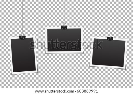 Vector Set Photo Frames On Transparent Stock Vector HD (Royalty Free ...