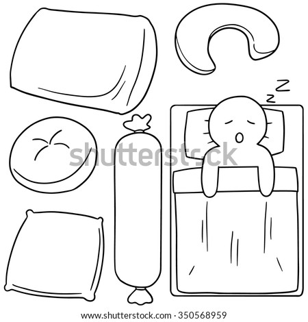 vector set of pillow - stock vector