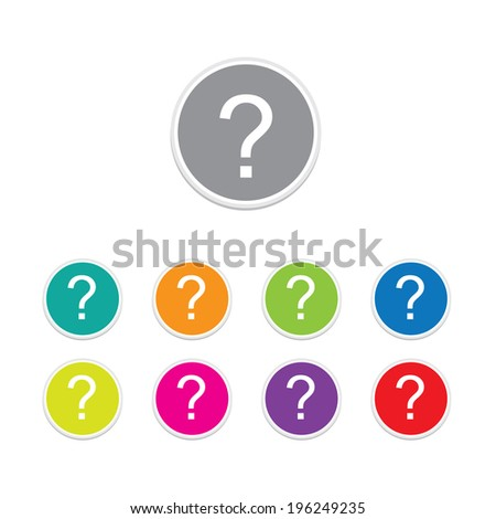 Vector - set of question mark button - stock vector