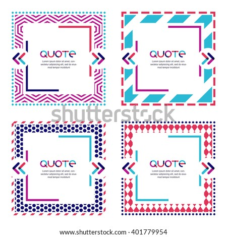 vector set quote forms frames geometric stock vector royalty free