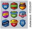 Vector set of retro badges. - stock vector