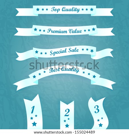Vector set of retro labels and ribbons  - stock vector