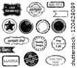 Vector Set of Retro Stamps and Badges - stock