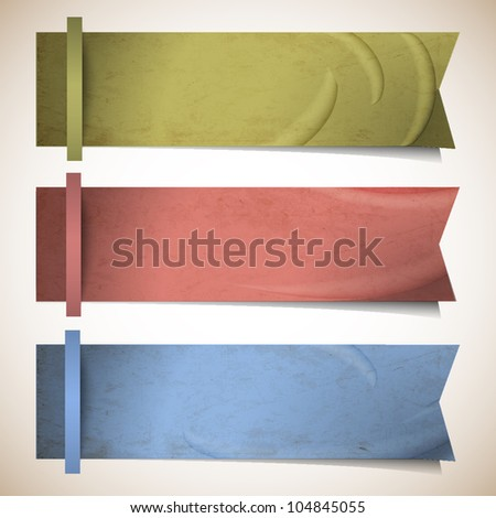 Vector set of ribbons banners - stock vector