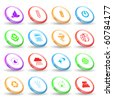 Vector set of rings - stock vector