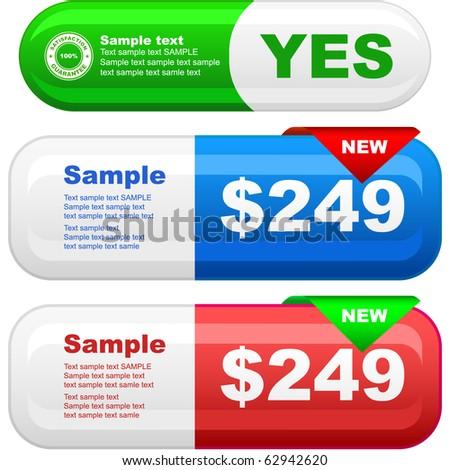 Vector set of sale banner - stock vector