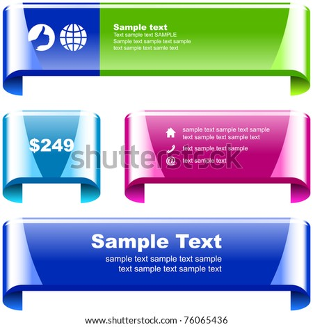 Vector set of sale design elements - stock vector
