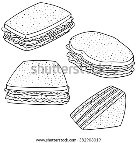 vector set of sandwiches - stock vector