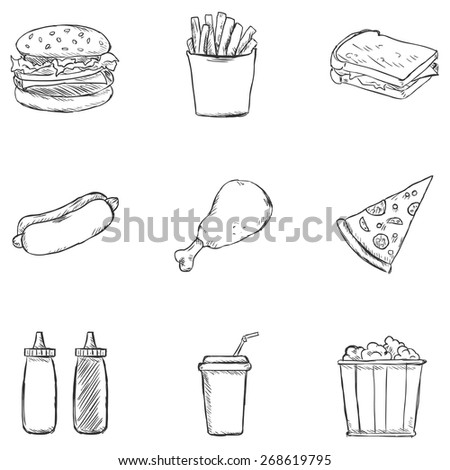 dip coloring pages | Sketch Chips And Dip Coloring Pages