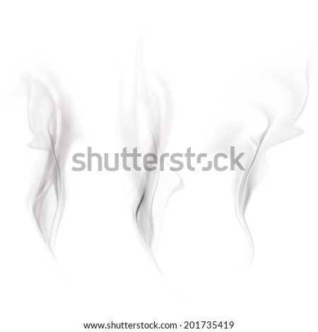 Vector set of smoke - stock vector