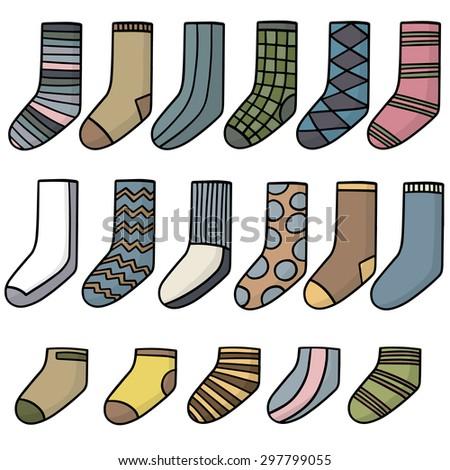 vector set of socks - stock vector