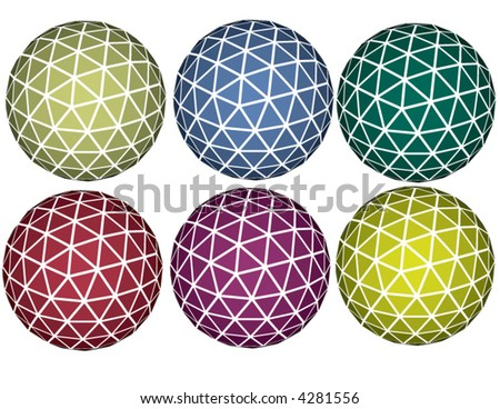 Vector set of spheres - stock vector