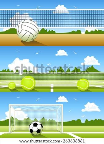 Vector Set of sport banners - stock vector