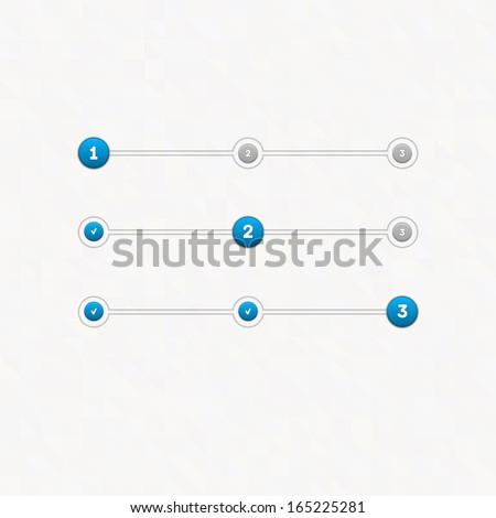 Vector set of step by step  progress bar - stock vector
