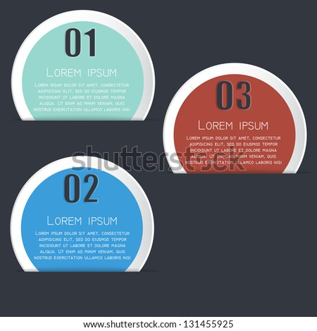 Vector set of stickers. Design template. - stock vector