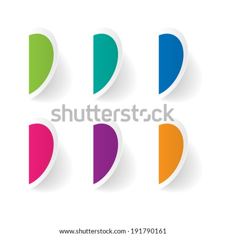 Vector set of stickers template - stock vector