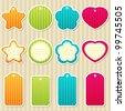 Vector set of tags and frames. EPS 10 - stock vector