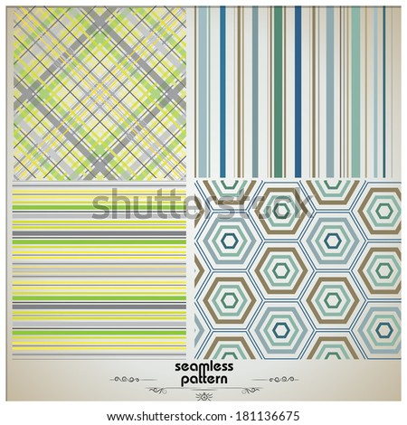 vector set of textile seamless patterns - backgrounds collection - stock vector