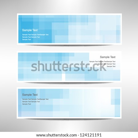 Vector set of three header designs bussiness - stock vector